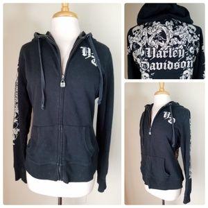 Harley-Davidson Women's Black Rhinestone Hoodie